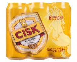 CISK Lager 6x500ml Cans Wrap 2015 - Front